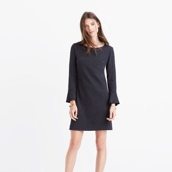 Knit Bell-Sleeve Dress