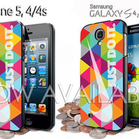 nike just do it aztec triangle rainbow for iphone 4/4S / 5,5s,5c case samsung galaxy S3 / S4 case