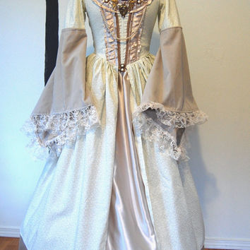 Pale colors Renaissance medievel  inspired dress Halloween Costume