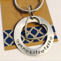 Key Chain Hand Stamp for Mom Gigi Key Chain - Gift for her - Gift from Kids Grandma Key Chain