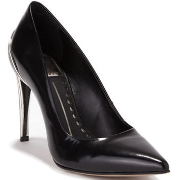 Dolce Vita Karisse Leather Embossed-Heel Pumps