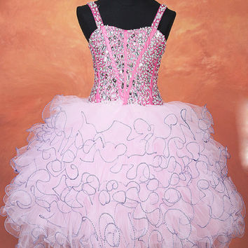 Real photo Free shipping   Latest original design Pageant dresses for girls glitz   kids prom dresses Free custom made
