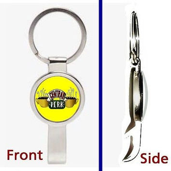 Friends TV Show Central Perk prop Pennant or Keychain secret bottle opener