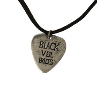Black Veil Brides Guitar Pick Cord Necklace