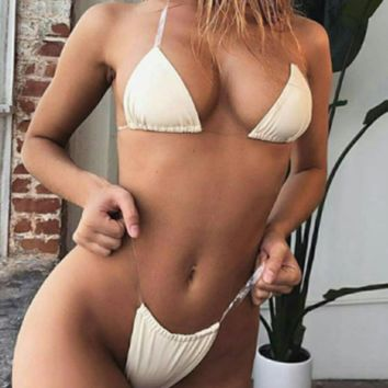New sexy bikini swimsuit split swimsuit female