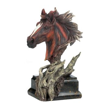 Driftwood Stallion Sculpture