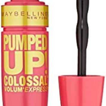 Maybelline New York Volum' Express Pumped Up Colossal Washable Mascara, Glam Black, 0.33 Fluid Ounce