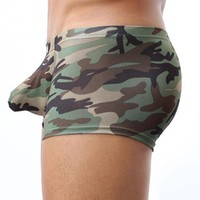 Military Men's Camouflage Boxer Briefs Trunks Underwear