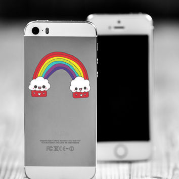 "Cupcake Kawaii Rainbow Die Cut Sticker // Cute Japanese // Cell Phone & Tablet Small Size // 2"" // Perfect For Indoor, Outdoor, Laptop, Car"