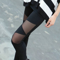 Personalized color stitching Slim was thin leggings tight pantyhose