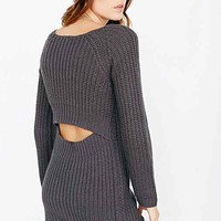 Silence + Noise Surplice-Back Sweater Dress-