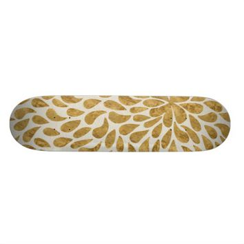 Golden Petal Design Skateboard