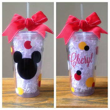 Personalized Mickey Mouse Tumbler