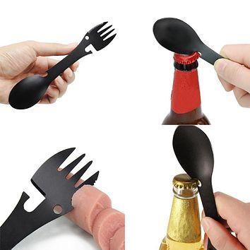 5 in 1 Multi-functional Practical Fork Knife Spoon Bottle/Can Opener