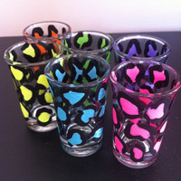 Leopard print shot glasses