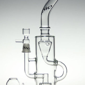 TORO-  Bong glass water pipe glass bong recycler bong water pipe two function with oil rig herb toro bowl