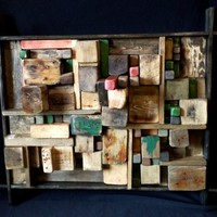 BoGaLeCo.com / Decorative objects / driftwood / Paintings / BiCubicCity Painting