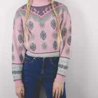 Vintage Pink Jewel Sweater