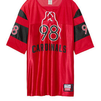 University Of Louisville Lace-Up Boyfriend Jersey - PINK - Victoria's Secret