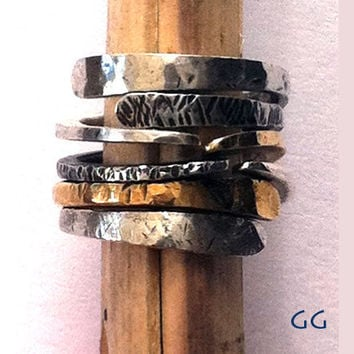 RING Energy4 in Sterling Silver and Gold metal by GGoriginal