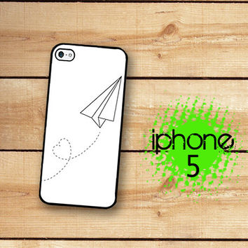 Paper Plane iPhone 5S Case | iPhone 5 Love Plane  Plastic or Rubber Trim