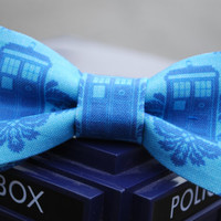 Doctor Who - Tardis hair bow - matching bow tie available