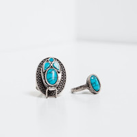 Turquoise ring pack