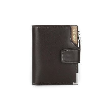 JINBAOLAI Men Leather Card Holder Zipper Bifold ID Credit Clutch Mens Business Billfold car-covers