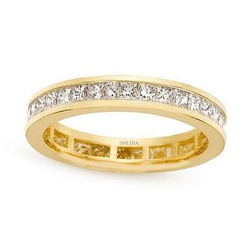 2 ct. tw. Channel Set Princess Diamond Eternity Band Ring 14K Yellow Gold