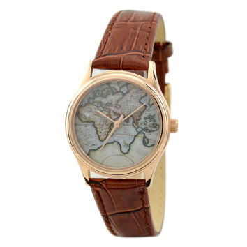 Ladies Map Watch (Eastern Hemisphere) 2 rose gold