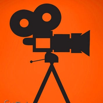 Vinyl Wall Decal Sticker Movies Set Camera #480