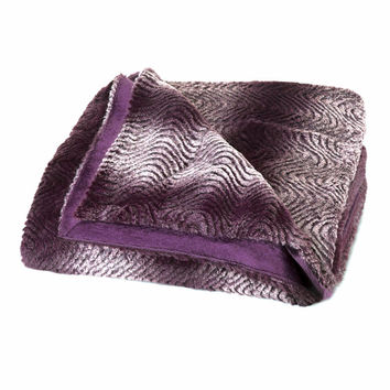 ORCHID OMBRE FAUX FUR THROW BLANKET