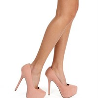 Blush Heel Pump