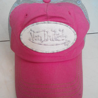Vintage Cute Pink Von Dutch Girl Trucker caps hat Pink Hat