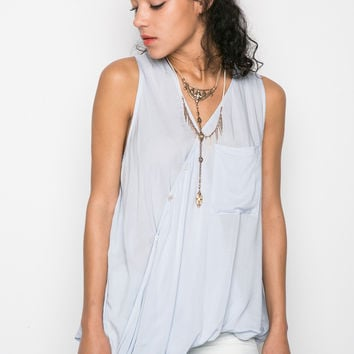 Women's Crossover Draped Blouse