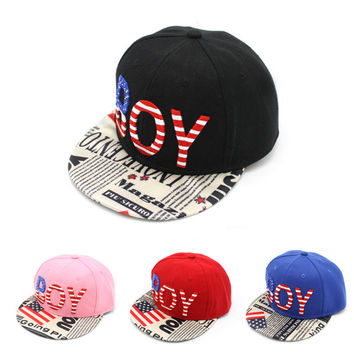 Korean Alphabet Embroidery Hip-hop Baseball Cap Hats [4917718724]