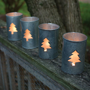 Tin Luminary- Tree