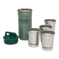 Stanley Packable Stainless Steel Shot Glass Set Hammertone Green One Size For Men 24344250001