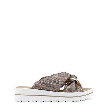 Ana Lublin Brown Synthetic Flip Flops