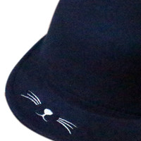 Navy Cat Ear Children's Felt Hat