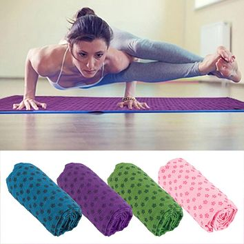 Soft Travel Sport Fitness Exercise Yoga Pilates Mat Cover Towel Blanket Free Shipping