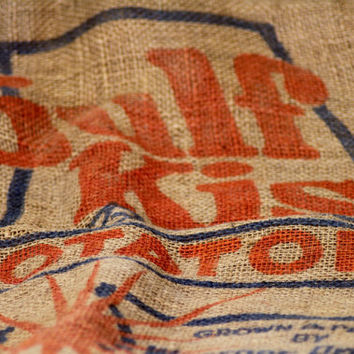 Vintage Advertising Burlap Sack AL Woerner Produce, Gulf Kist by RestorationHarbor