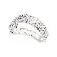 Fashion Rhinestone Four Rows of Square Hairpins Clips for Girls Women Headwear Hair Accessories  Women Hairpins