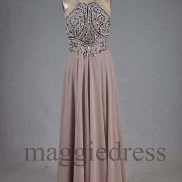 Custom Beaded Long Prom Dresses Evening Gowns Formal Party Dress Bridesmaid Dresses 2014 Formal Wear Cocktail Dresess Formal Wear
