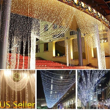 10M 100LED String Fairy Lights Christmas Wedding Party Xmas LED Light Waterproof [7983476295]