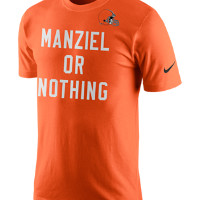 Nike Manziel Or Nothing (NFL Browns) Men's T-Shirt Size XXL (Orange)