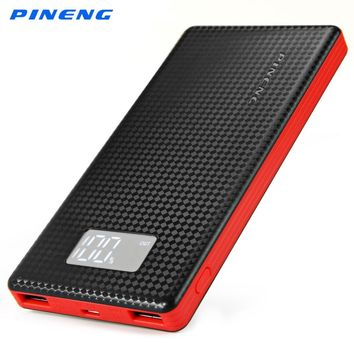 Original New PINENG 10000mAh PN-963 Portable Battery Mobile Power Bank USB Charger Li-Polymer with LED Indicator For iPhone