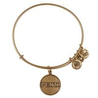 Alex and Ani University Of Pennsylvania Logo Charm Bangle - Russian Gold