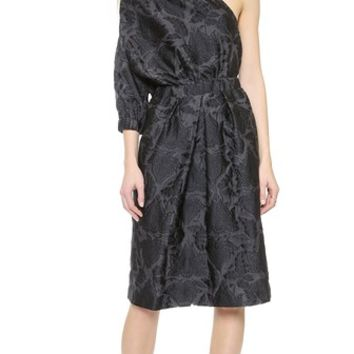 Jill Stuart Fil Coupe One Shoulder Dress