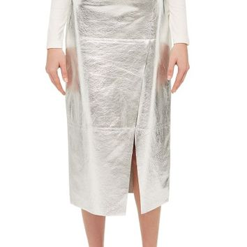 Topshop Boutique Foil Leather Midi Skirt | Nordstrom